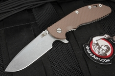 Rick Hinderer XM-24 Spearpoint - Brown G-10