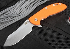 Rick Hinderer XM-24 Skinner - Orange G-10 Flipper