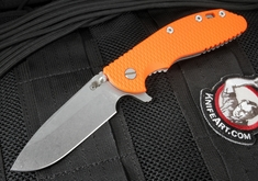 Rick Hinderer XM-24 Spearpoint - Orange G-10 Flipper