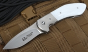Scot Matsuoka Kala White Kirinite Tactical Folding Knife