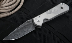 Chris Reeve Large Sebenza 21 Raindrop Damascus & CGG Raindrop Graphic