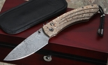 William Henry B12 Shade Mokume and Damasus Folding Knife