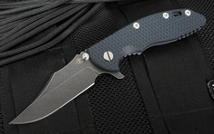 "Rick Hinderer XM-18 3.5"" Bowie - DLC Blade - Black and Blue"