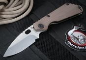 Strider SNG CC Coyote Tan Hollow Grinds Folding Knife