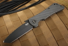 Southern Grind - Bad Monkey Tanto - Black Cerakote and Carbon Fiber