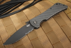 Southern Grind - Bad Monkey Drop Point - Black Cerakote and Carbon Fiber - Serrated