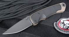 Spartan Blades Akribis Carbon Fiber and Flat Dark Earth Tactical Folder