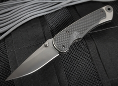 Spartan Blades Akribis Meteorite Grey and Carbon Fiber Folder