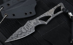Spartan Blades Exclusive Enyo Fixed Blade with Blackout Damascus