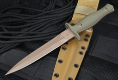 Spartan Blades Les George V14 Dagger - Flat Dark Earth and Green