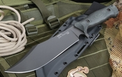 Spartan Horrigan Bowie - Black Blade - Black Handle