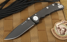Spartan Harsey Folding Knife - Titanium Hardware - Black PVD Coated