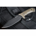 Spartan Harsey Model 2 - Black Blade - Green Handle Fixed Blade Knife
