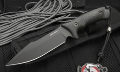 Spartan Harsey Model 2 - Black Blade - Black Handle Fixed Blade Knife
