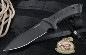 Spartan Blades Harsey Model 2 Black on Black Fixed Blade