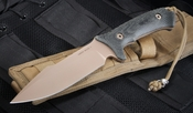 Spartan Blades Harsey Model 2 -  FDE Blade / Black Handle Fixed Blade Knife - Spartan Blades Model 2