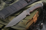 Spartan Horkos - Flat Black & Black Micarta Tactical Fixed Blade