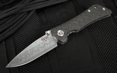 Southern Grind Spider Monkey - Damasteel Drop Point and Carbon Fiber