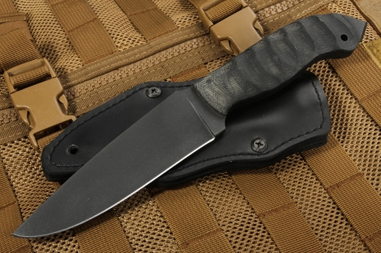 Winkler Spike - Sculpted Black Micarta - Caswell Coating with 80CRV2 Steel