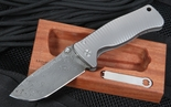 Lion Steel SR2 Raindrop Pattern Damascus Folding Knife