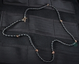 Starlingear Black Agate & Hematite Heartbreaker Micro Bead Necklace - SOLD