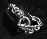 Starlingear Large Slickster Sterling Silver Traditional Link Bracelet - SOLD