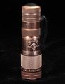 LensLight Mini - Copper Delta Pattern Flashlight - Dual Output - 4 INCH