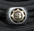 Starlingear Strider Knives Sterling Silver and Bronze Logo Bead -SOLD