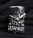 Starlingear Thug Tiki Sterling Silver Bead - SOLD