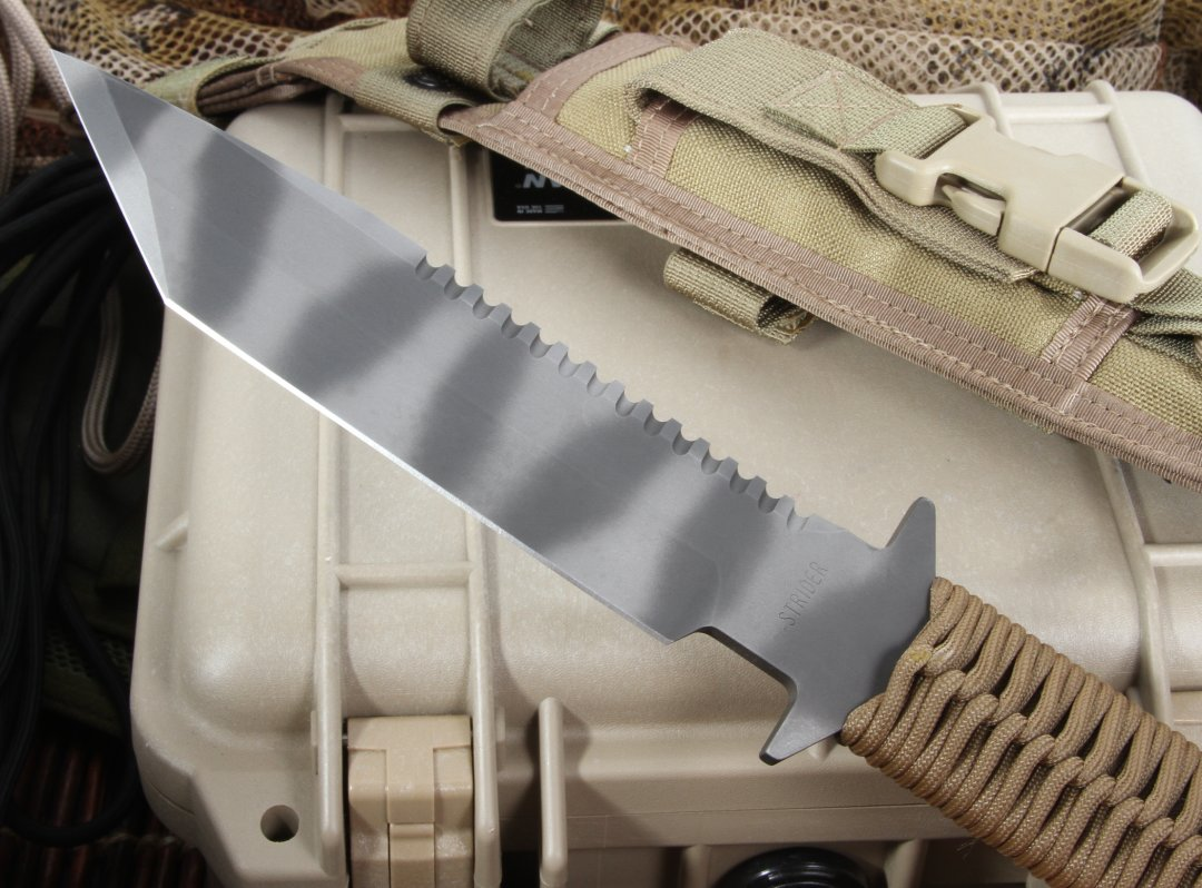 Strider BN SS Coyote Tan Cord Wrap Tactical Fixed Blade Knife - SOLD