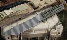 Strider BN SS Ranger Green Cord Wrap Tactical Fixed Blade Knife