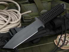 Strider BT Black on Black Tactical Fixed Blade Knife
