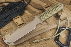 Strider BT-SS Coyote Tan Cord and Tan Cerakote Fixed Blade