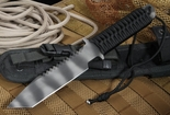 Strider BT SS Black Cord Wrap Tactical Fixed Blade Knife