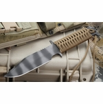 Strider D9 Mod 10 Coyote Tan Tactical Fixed Blade Knife - SOLD