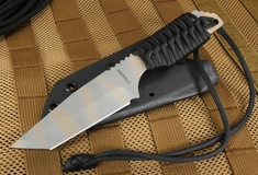Strider DB-L Tanto - Black Cord and Ghost Stripes Fixed Blade