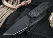 Strider DB Black Gunner Grip Tactical Fixed Blade Knife
