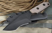 Strider EB/DB Coyote Tan Gunner Grip Tactical Fixed Blade - SOLD