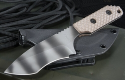 Strider EB/DB Gunner Grip Tan and Tiger Tactical Fixed Blade