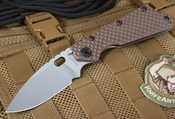 Strider SMF GG Coyote Tan Flat Grinds Tactical Folder