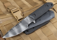 Strider HT-S-GG Black and Tiger Stripes Fixed Blade