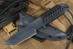 Strider HT-T Black Cerakote Tactial Fixed Blade Knife