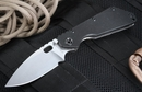 Strider Knives Black SMF Stone Washed Folding Knife - PD1