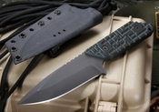 Strider Knives GW/AR Black and Green Grid Pattern Tactical Fixed Blade Knife - SOLD