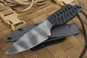 Strider Knives SA-L Black and Tiger Stripes Tactical Fixed Blade