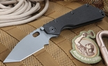 Strider Knives SMF-T Black and Grey Cerakote Tactical Folding Knife