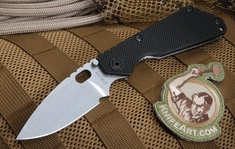 Strider Knives SNG Black and Stone Washed Folding Knife - CPM-154