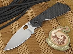 Strider Knives SNG Black and Stone Washed Folding Knife - CTS-40CP