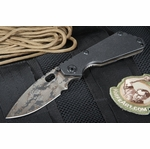 Strider Knives SNG Black Digicam and Heat Flames Folding Knife -SOLD