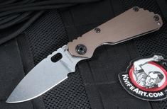 Strider Knives SNG CC CPM-154 Coyote Tan and Stone Washed Folder